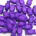 Beads, Acrylic, Dark purple, Designer shapes, 15mm x 9mm x 6mm, 15g, 25 Beads, (SLZ0057)